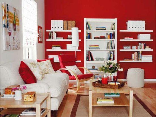 Интерьер и красный цвет